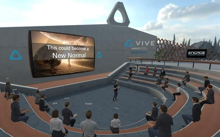HTC Vive in Engage - Virtual Conferences