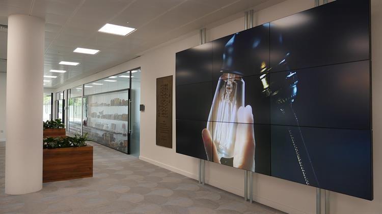 Peerless-AV Modular Mounting System installed in Panasonic UK HQ reception