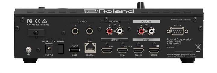 Roland P-20HD rear