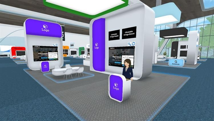 VirBELA Expo Hall - XL Booth enterprise VR