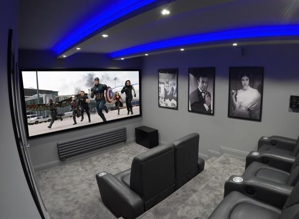 Garage conversion cinema 2